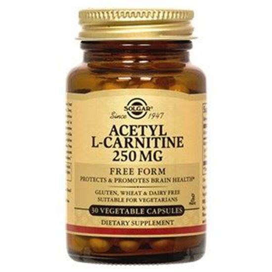 Picture of Solgar Acetyl-L-Carnitine 250 mg - 30 Vegetable Capsules