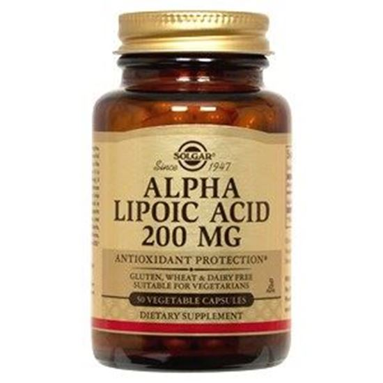 Picture of Solgar Alpha Lipoic Acid 200mg Vegetable Capsules