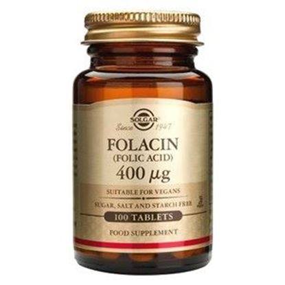 Picture of Solgar Folacin (Folic Acid) 400µg - 100 Tablets