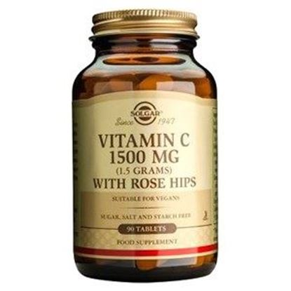Picture of Solgar Vitamin C 1500 mg with Rose Hips Tablets - 90