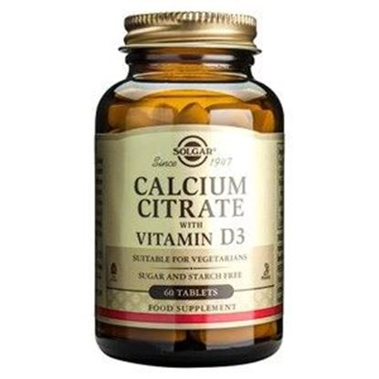 Picture of Solgar Calcium Citrate with Vitamin D3 - 60 Tablets