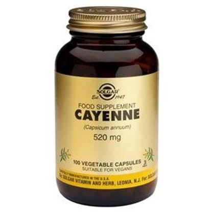 Picture of Solgar Cayenne 520mg - 100 Vegetable Capsules