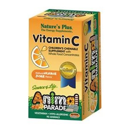 Picture of Natures Plus Animal Parade Vitamin C - Childrens Chewable Supplement with Whole Food Concentrates