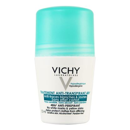 Picture of Vichy 48hr Anti-Perspirant No White Marks - No Yellow Stains - Roll-on