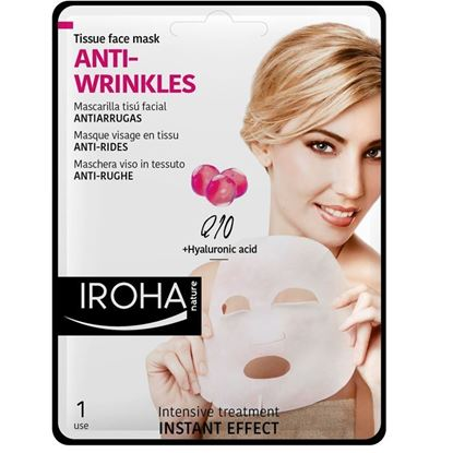 Picture of Iroha Nature Anti-Wrinkles Tissue Face Mask - Q10 + Hyaluronic Acid