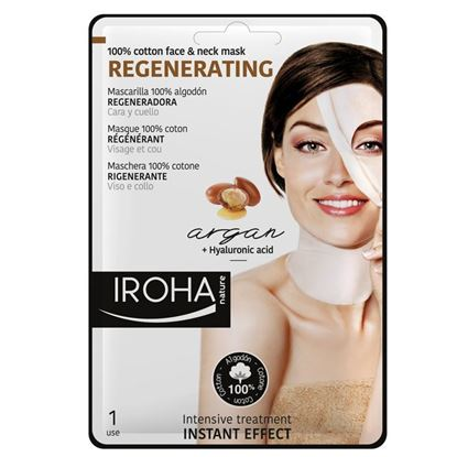 Picture of Iroha Nature Regenerating Tissue Face Mask - Argan Oil + Q10 + Hyaluronic Acid