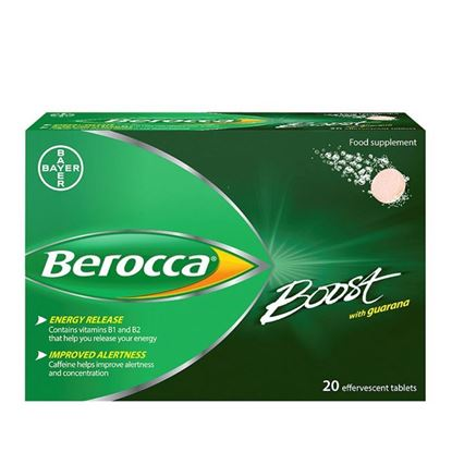 Picture of Berocca Boost Effervescent Tablets - 20 Tablets