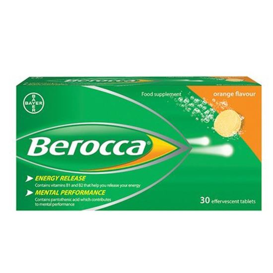 Picture of Berocca Orange Effervescent Tablets 30 Tablets