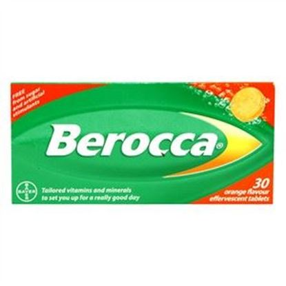 Picture of Berocca Orange Flavour Effervescent Tablets
