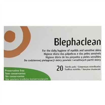 Picture of Blephaclean for the Daily Hygiene of Eyelids and Sensitive Skins - 20 wipes