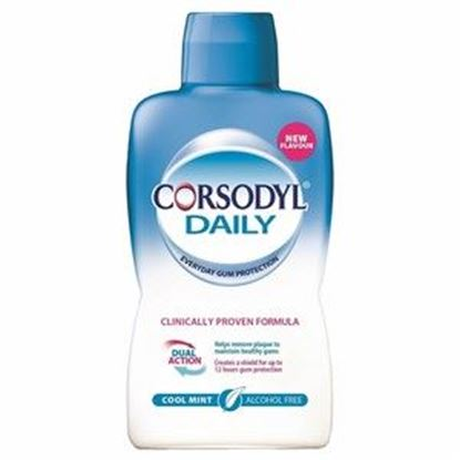 Picture of Corsodyl Daily Mouthwash - Cool Mint - Alcohol Free - 500ml