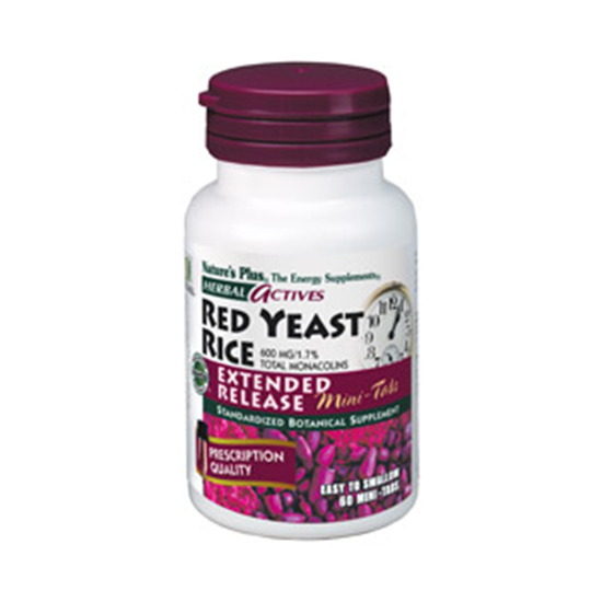 Picture of Natures Plus Actives Red Yeast Rice 600 mg Extended Release Mini-Tabs