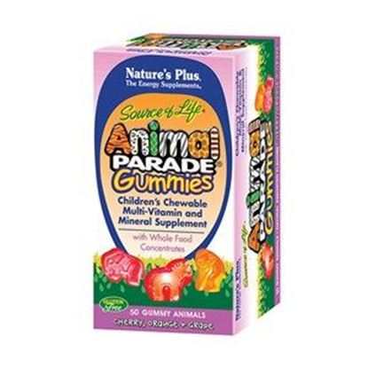 Picture of Natures Plus Animal Parade Gummies - Assorted Fruit Flavors