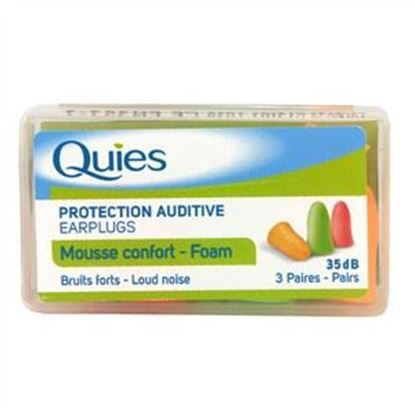 Picture of Quies Foam Protective Auditive Earplugs - 3 Pairs
