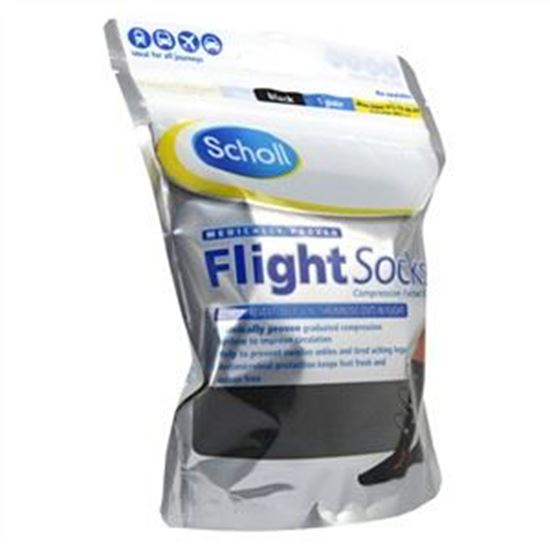 Picture of Scholl Flight Socks Black 9.5 -12