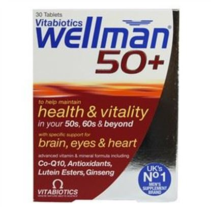 Picture of Vitabiotics Wellman 50+ - 30 tablets