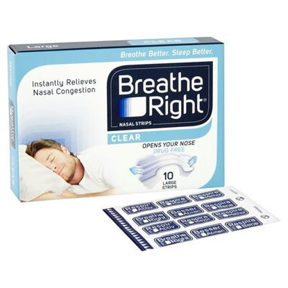 Picture of Breathe Right Nasal Strips Clear - Large