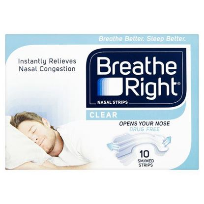 Picture of Breathe Right Nasal Strips Clear - Small/Medium