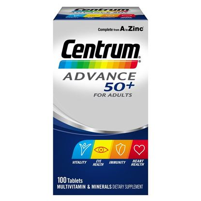 Picture of Centrum Advance 50+ Multivitamin - 100 tablets