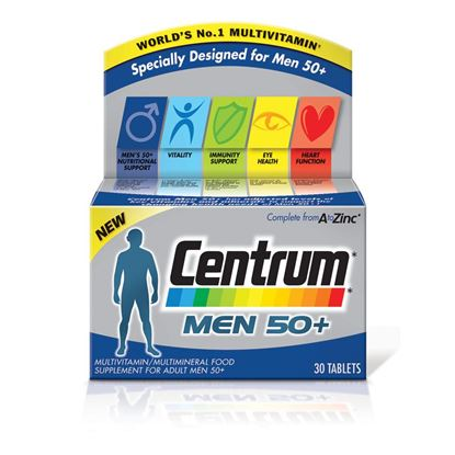 Picture of Centrum Men 50+ - 30 tablets