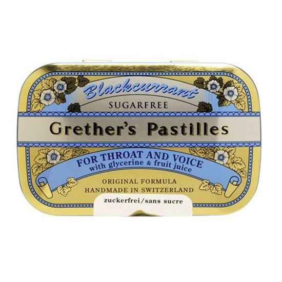 Picture of Grether's Pastilles Sugarfree - Blackcurrant - 60g