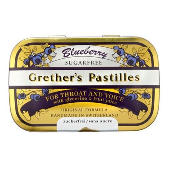 Picture of Grether's Pastilles Sugarfree - Blueberry - 110g