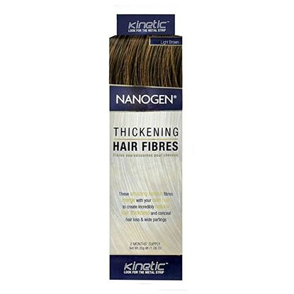 Picture of Nanogen Thickening Hair Fibres - Light Brown - 2 Months' Supply