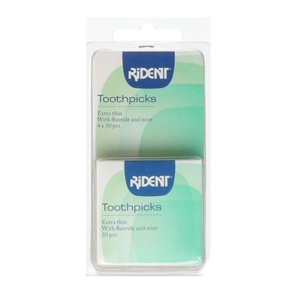 Picture of Rident Toothpicks Extra Thin - 4x30 pcs