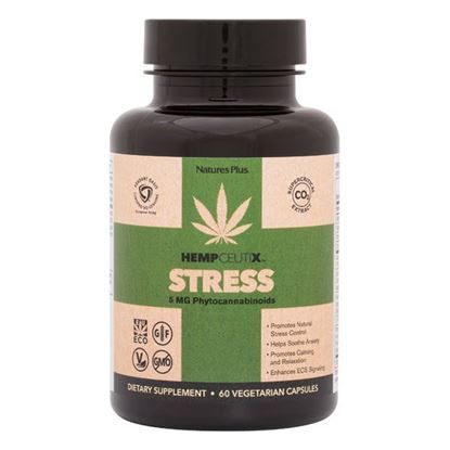 Picture of Natures Plus Hempceutix Stress - 60 capsules